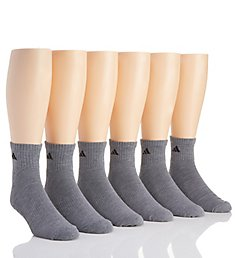 Adidas Extended Size Athletic Quarter Socks - 6 Pack 5140291B