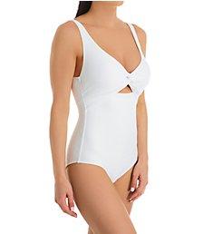 Anne Cole Dream Weaver Twist Front Scoop One Piece Swimsuit 20MO06D