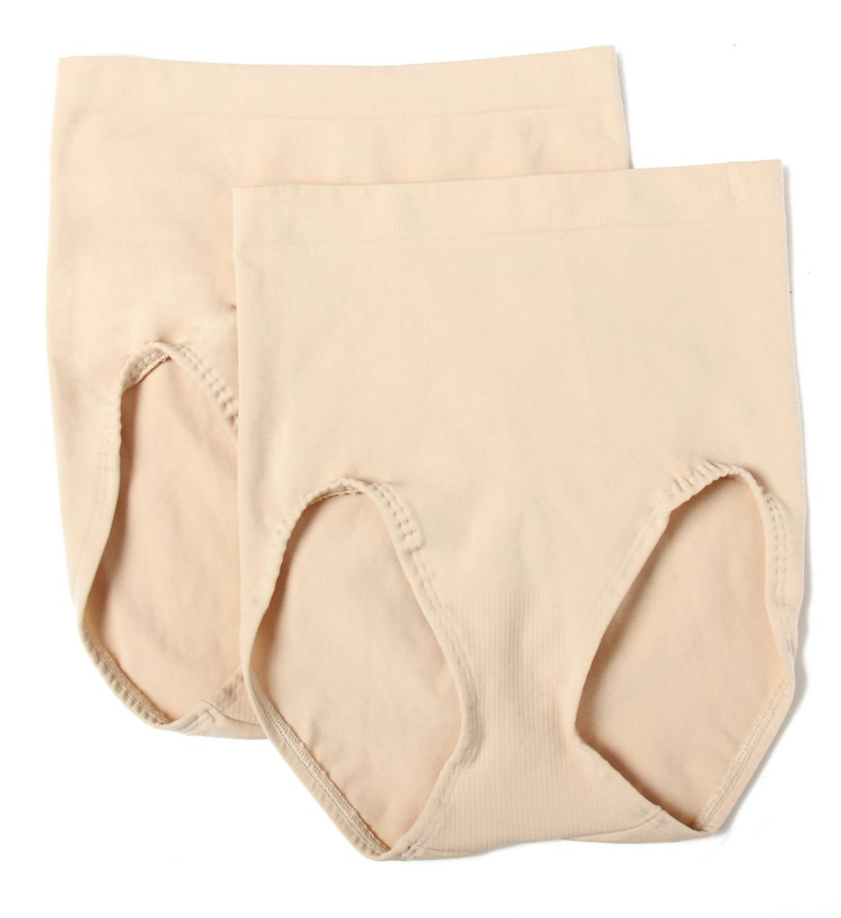 Bali Seamless Firm Control Brief Panty - 2 Pack X204
