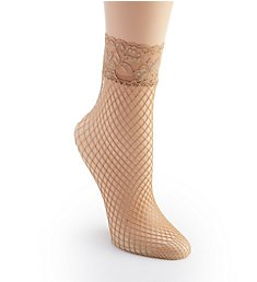 Berkshire Fishnet Anklet with Lace Top 5118