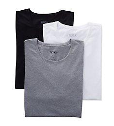 Boss Hugo Boss Essential 100% Cotton Crew Neck T-Shirts - 3 Pack 0325385