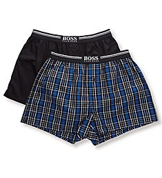 Boss Hugo Boss 100% Cotton Woven Boxers - 2 Pack 0436980