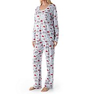 Carole Hochman Holiday Bouquet Long PJ 1891255