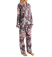 Carole Hochman Holiday Bouquet Flannel Pajama Set 1891263