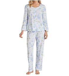 Carole Hochman Knits Top and Long Pant PJ Set 1891411