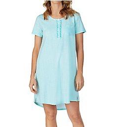 Carole Hochman Aqua Leaf Sleepshirt C31702B
