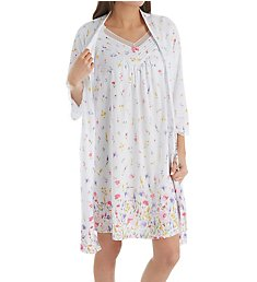 Carole Hochman Meadow Flower Robe and Chemise Travel Set CH91560