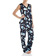 Carole Hochman Midnight In the Moment Sleeveless Long Pajama Set 1311258
