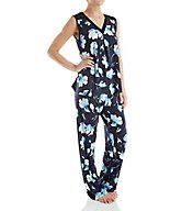 Carole Hochman Midnight In the Moment Sleeveless Long Pajama Set 1311258