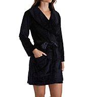 Carole Hochman Midnight Sheared Plush Short Robe 1341261