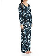 Carole Hochman Midnight Midnight Storm Long Sleeve Pajama Set 1391259