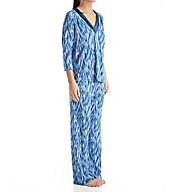 Carole Hochman Midnight Midnight Storm Long Sleeve V-Neck Pajama Set 1391260