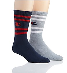 Champion Men's Performance C Logo Crew Socks - 2 Pack CH167