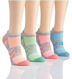 Champion Performance Double Dry No Show Socks - 4 Pair CH226