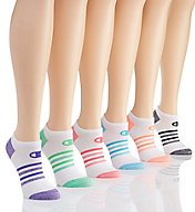 Champion Core Performance Double Dry No Show Socks - 6 Pair CH239