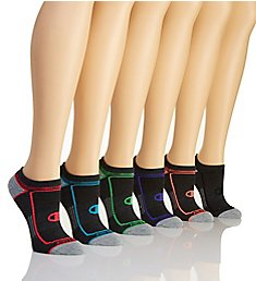 Champion Core Performance Double Dry No Show Socks - 6 Pair CH247