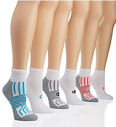 Champion Core Performance Double Dry Ankle Socks - 6 Pair CH308