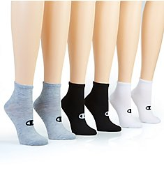 Champion Core Performance Double Dry Ankle Socks - 6 Pack CH308
