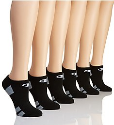 Champion Core Performance Double Dry No Show Socks - 6 Pair CH616