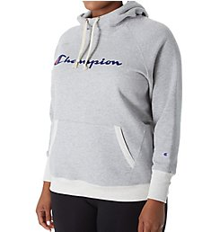 Champion Plus Powerblend Fleece Graphic Pullover Hoodie GF140Y