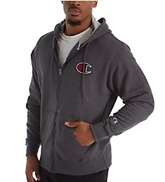Champion Graphic Powerblend Full Zip Fleece Hoodie GF91H