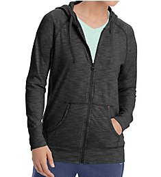 Champion Heathered Jersey Full Zip Hooded Jacket J4165