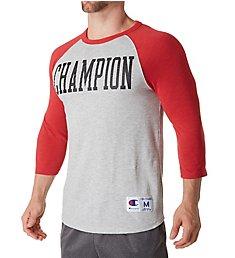 Champion Heritage Baseball Slub Vintage T-Shirt T1234