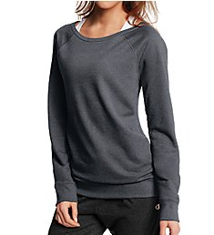 Champion French Terry Long Sleeve Boatneck Crew Top W0943