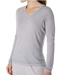 Champion Authentic Burnout Wash Long Sleeve V-Neck Tee W1273