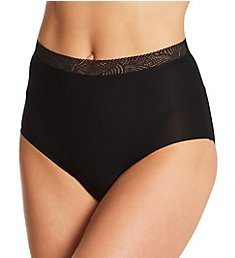 Chantelle Soft Stretch High Waist Brief Panty with Lace 11G7