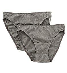 Cottonique Latex Free Organic Cotton Bikini Panty - 2 Pack W22206