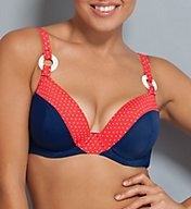 Curvy Kate Smooth Sailing Padded Plunge Swim Top CS2651