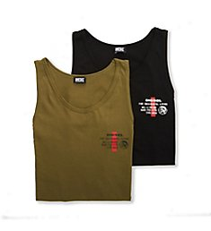 Diesel Zabys 100% Cotton Tanks - 2 Pack A364LAYY