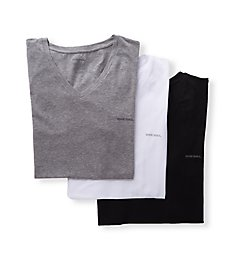 Diesel Michael Cotton Stretch V Neck T-Shirts - 3 Pack SHGUJAQX