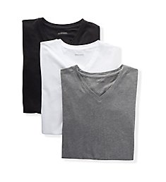 Diesel Michael Cotton Stretch V Neck T-Shirts - 3 Pack SHGUQAZY