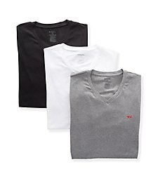 Diesel Michael Cotton Stretch V Neck T-Shirts - 3 Pack SHGUWAVC
