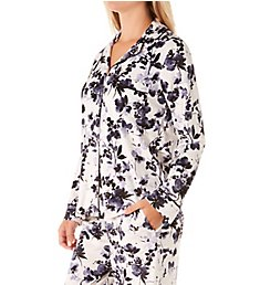 Donna Karan Sleepwear Stretch Velour Signature PJ Set D3923314