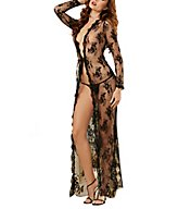 Dreamgirl Obsession 2 Piece Long Open Front Lace Gown Set 10095
