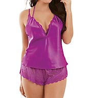 Dreamgirl Three Piece Satin Tap Set 10410