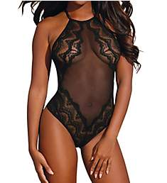 Dreamgirl Scalloped Lace Teddy 10531