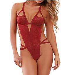 Dreamgirl Peek-a-boo Strappy Teddy 10551