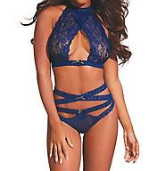 Dreamgirl Strappy Halter Lace Set 10564