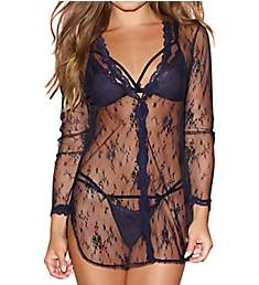 Dreamgirl Lacie Shirt-Style Robe with Bra & G-String 11016