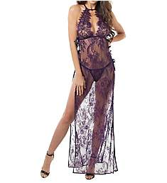 Dreamgirl Long Gown with Matching G-String 11216