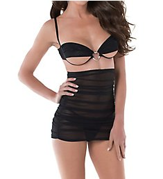 Dreamgirl Three Piece Bralette and Skirt with G-String Set 11238
