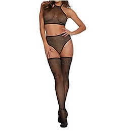 Dreamgirl Rhinestone Fishnet 3 Piece Set 11246