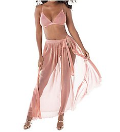Dreamgirl Mesh Bra with Removable Maxi Skirt Set 11265
