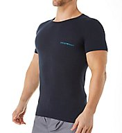 Emporio Armani Stretch Cotton Logo Band Crew Neck T-Shirt 0356A717