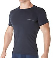 Emporio Armani Stretch Cotton Classic Logo Crew Neck T-Shirt 0357A717