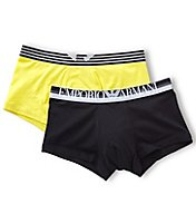 Emporio Armani Color Play Cotton Stretch Trunks - 2 Pack 2107P723